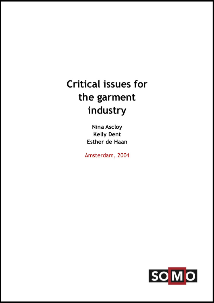 publication cover - Critical Issues in the garment industry