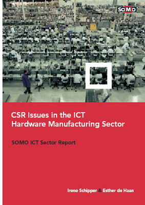 publication cover - CSR issues in the ICT hardware manufacturing sector
