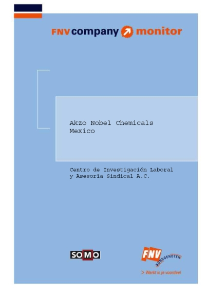 publication cover - FNV Company Monitor; Akzo Nobel Chemicals Mexico