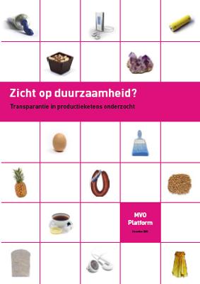 publication cover - Zicht op duurzaamheid?