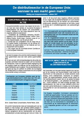 publication cover - De distributiesector in de Europese Unie: wanneer is een markt geen markt?