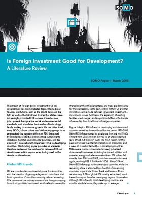 publication cover - Is Foreign Investment Good for Development?