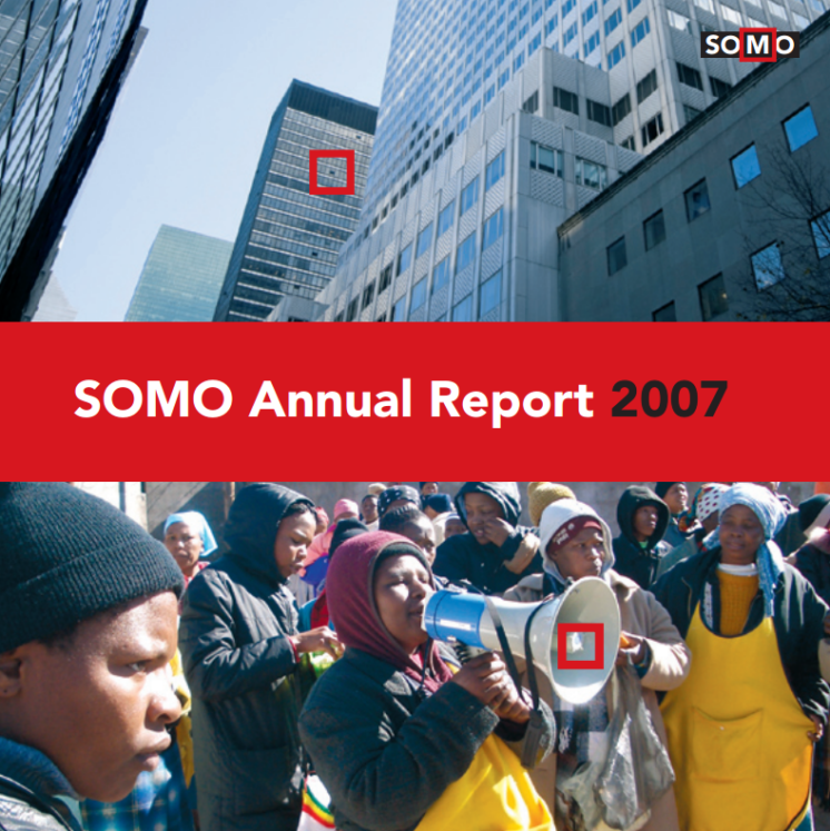 publication cover - SOMO – Annual Report 2007