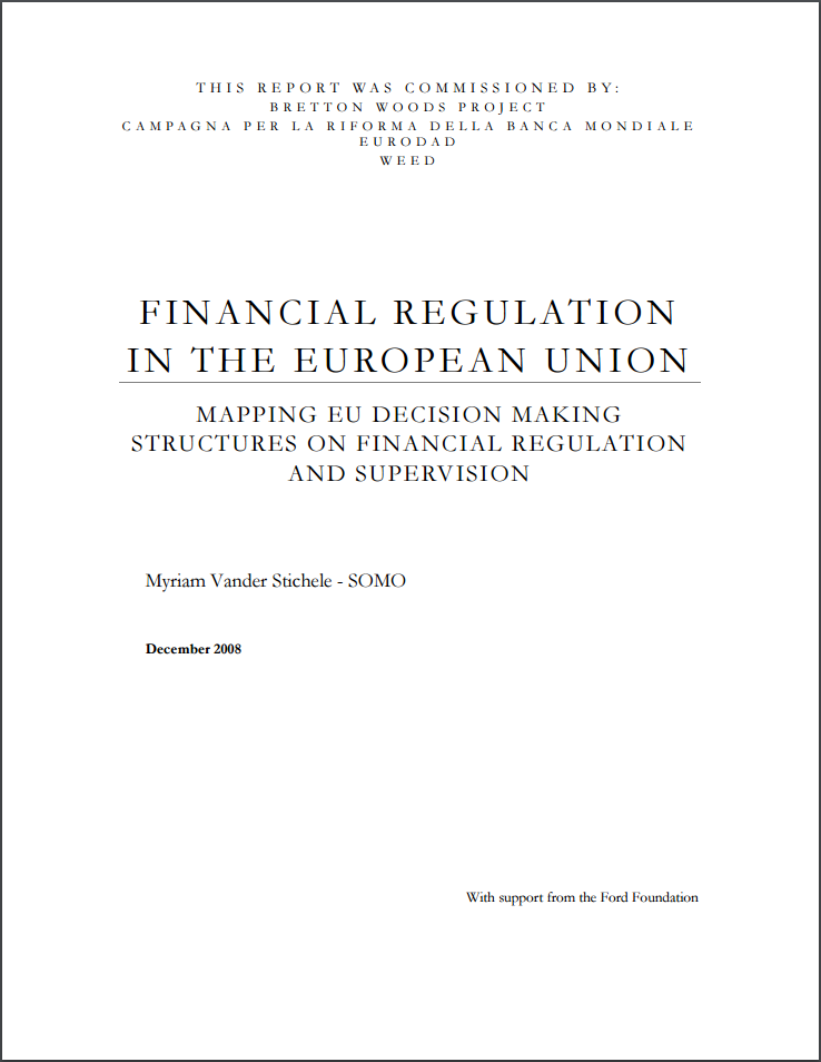 publication cover - Financial Regulation in the European Union