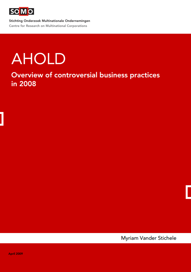 publication cover - Ahold – Overview of Controversial Business Practices 2008