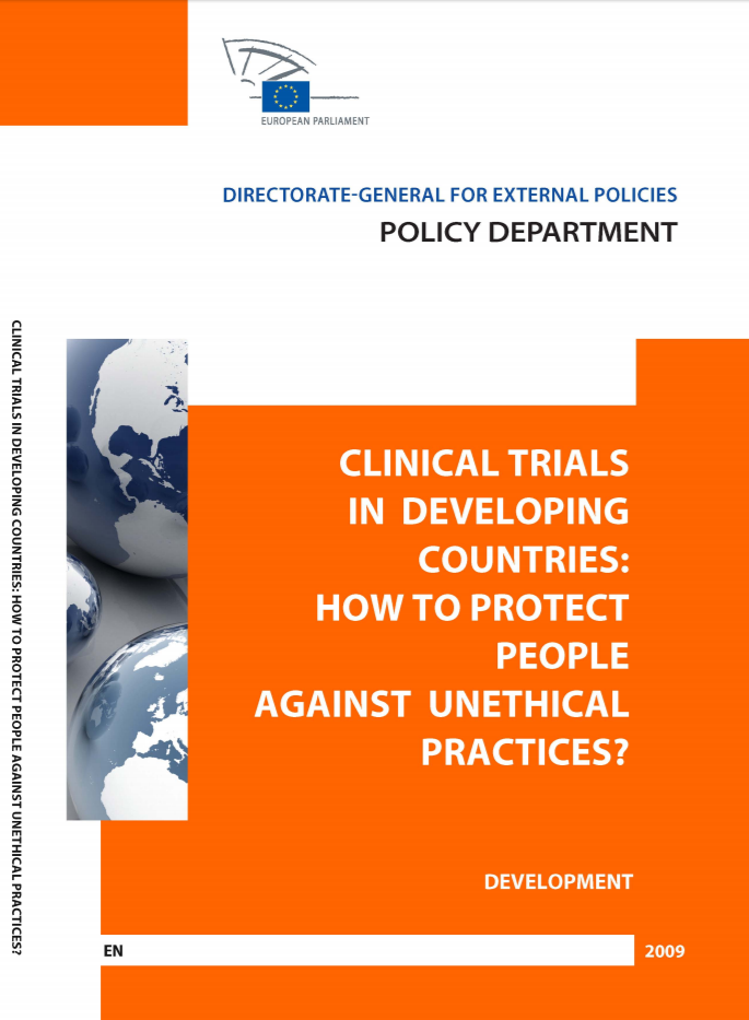 publication cover - Clinical Trials in Developing Countries