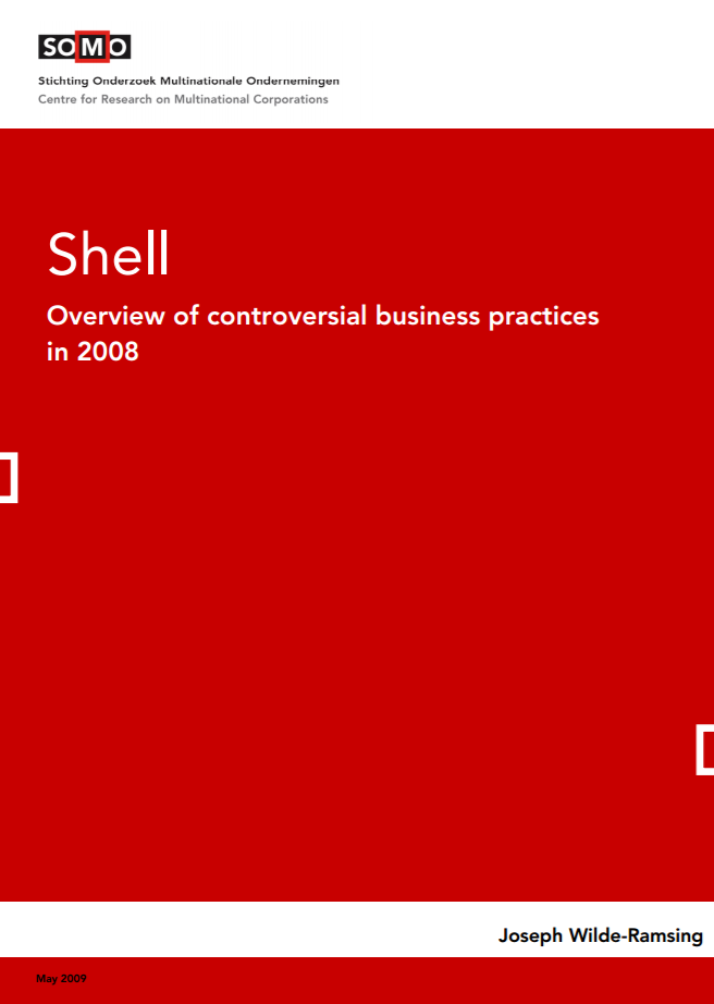 publication cover - Shell – Overview of controversial business practices in 2008