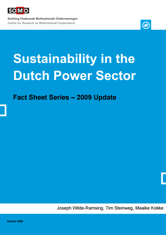 publication cover - Sustainability in the Dutch Power Sector – 2009 Update