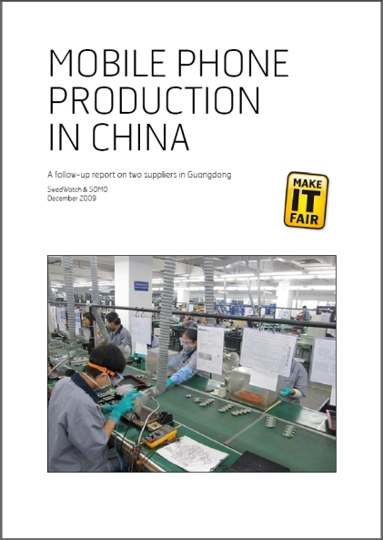 publication cover - Mobile Phone Production in China