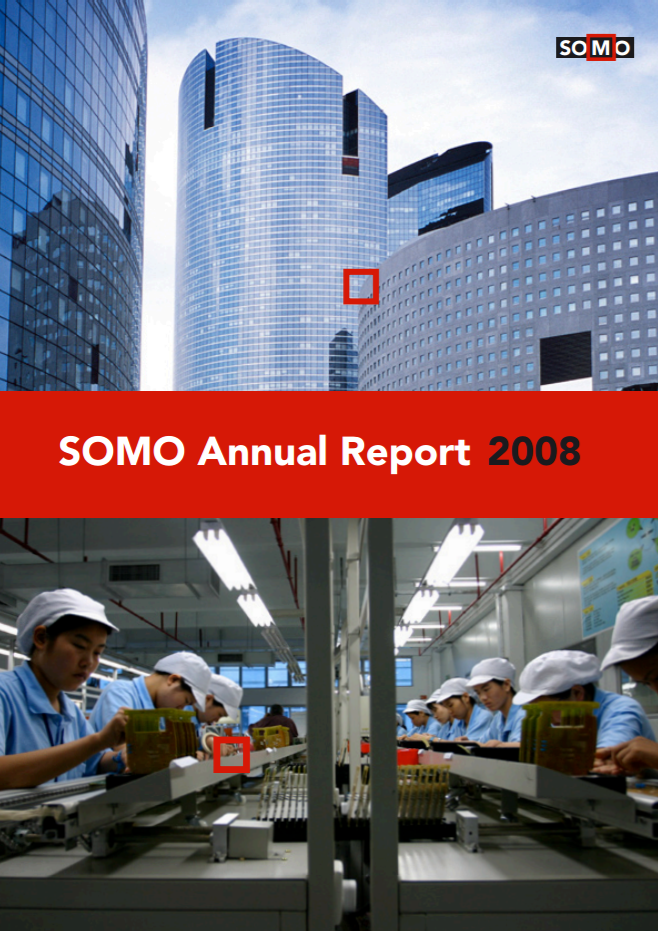 publication cover - SOMO – Annual Report 2008