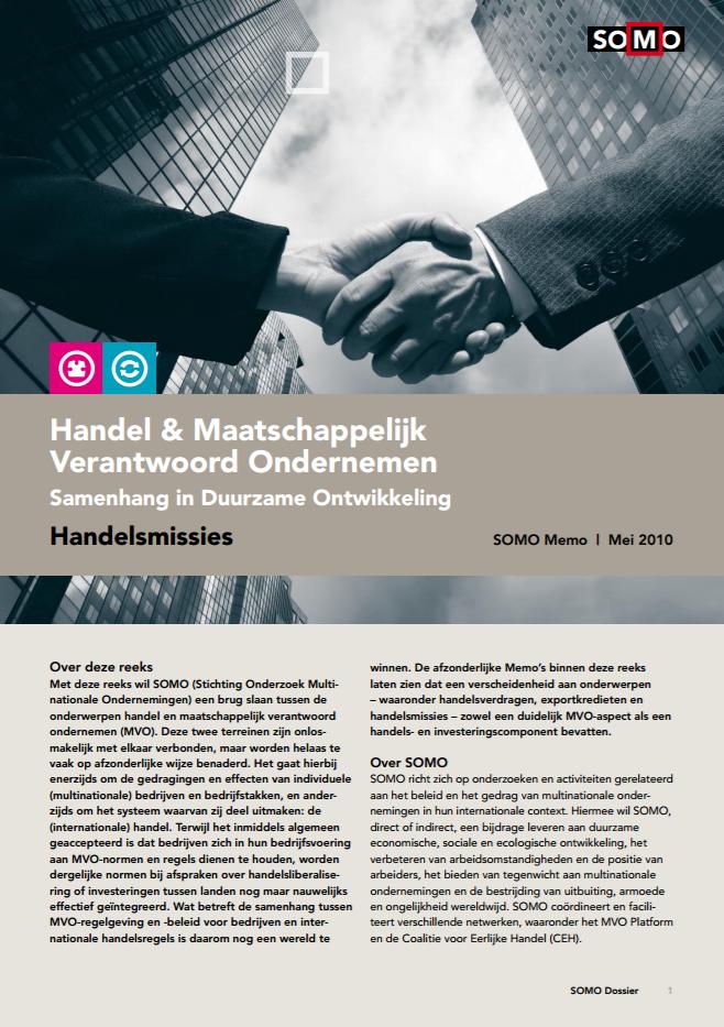 publication cover - Handel en Maatschappelijk Verantwoord Ondernemen