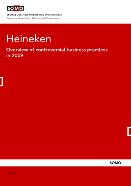 publication cover - Heineken – Overview of controversial business practices in 2009