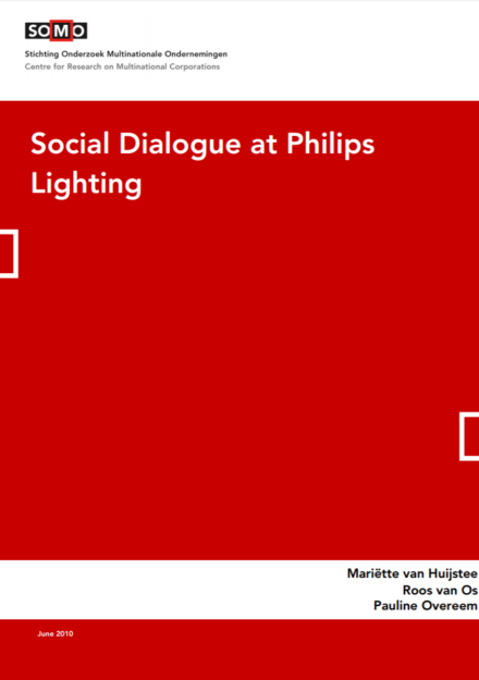 publication cover - Social Dialogue at Philips Lighting