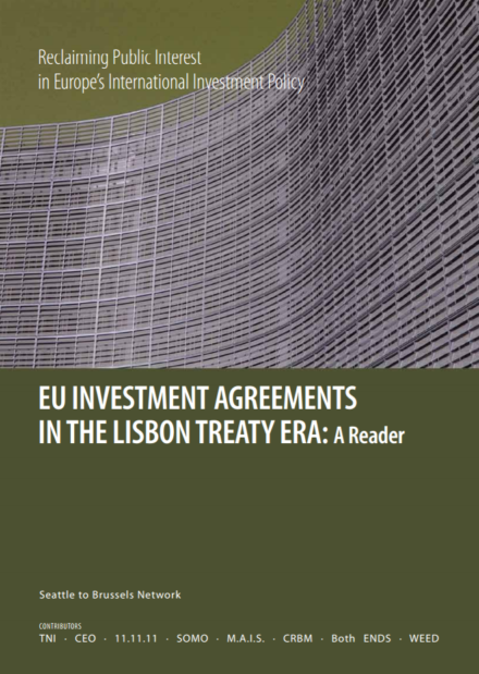 publication cover - EU Investment Agreements in the Lisbon Treaty Era: A Reader