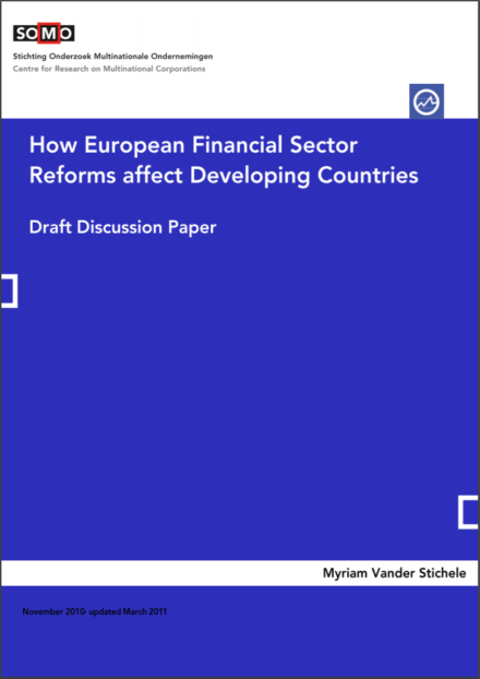 publication cover - How European Financial Sector Reforms affect Developing Countries