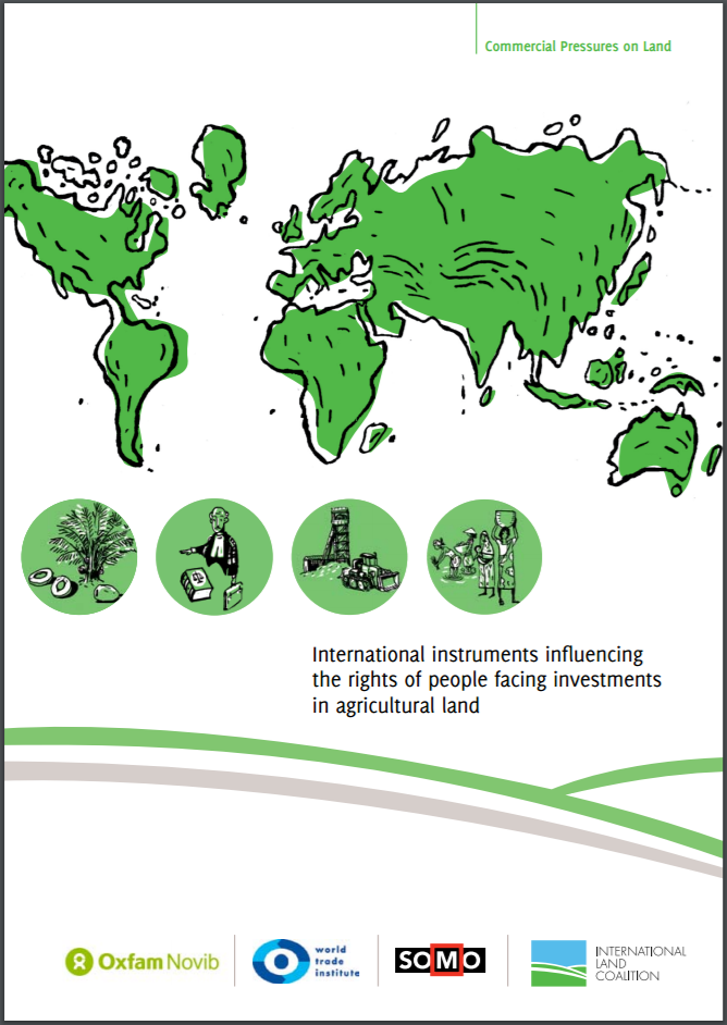 publication cover - International instruments influencing the rights of people facing investments in agricultural land