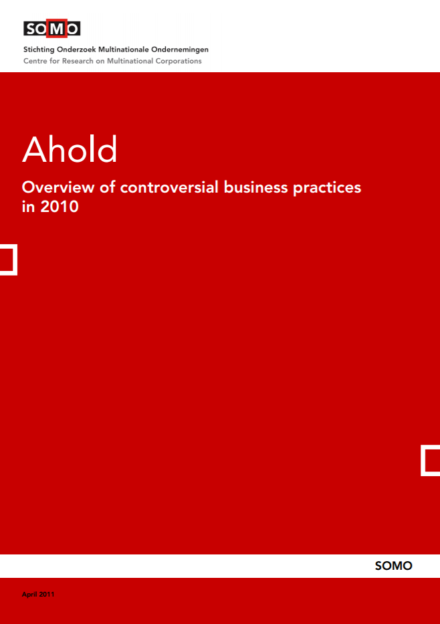 publication cover - Ahold – Overview of Controversial Business Practices in 2010