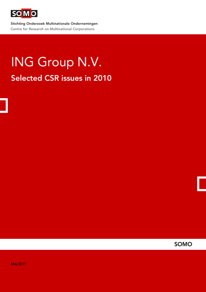 publication cover - ING – Selected CSR issues in 2010