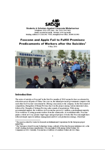 publication cover - Foxconn and Apple Fail to Fulfill Promises