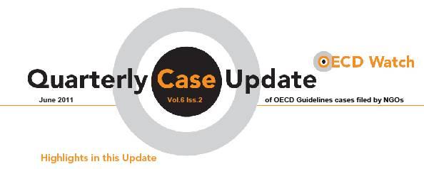 publication cover - OECD Watch Quarterly Case Update June 2011
