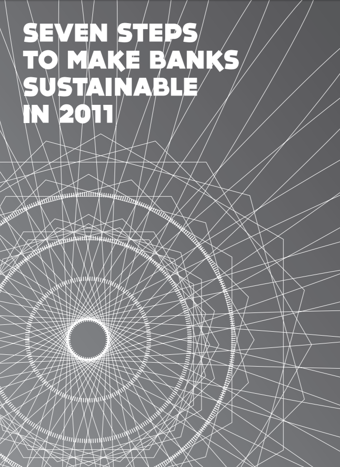 publication cover - Seven steps to make banks sustainable in 2011
