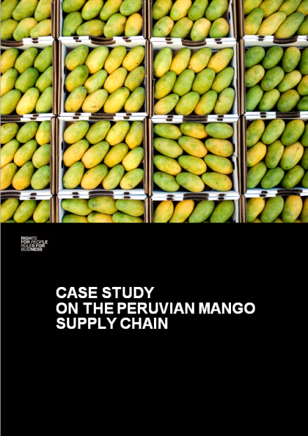 publication cover - Case study on the Peruvian mango supply chain