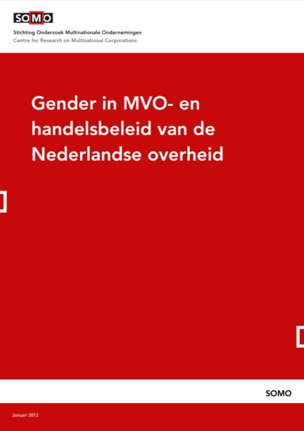 publication cover - Gender in MVO- en handelsbeleid van de Nederlandse overheid