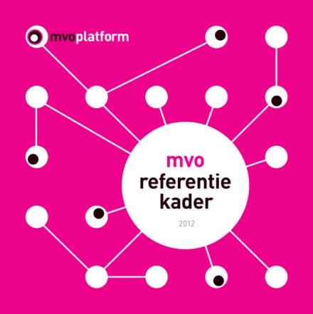 publication cover - MVO Referentiekader 2012