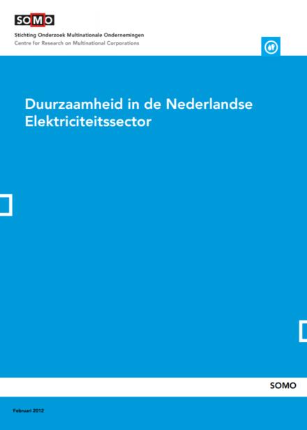 publication cover - Duurzaamheid in de Nederlandse Elektriciteitssector