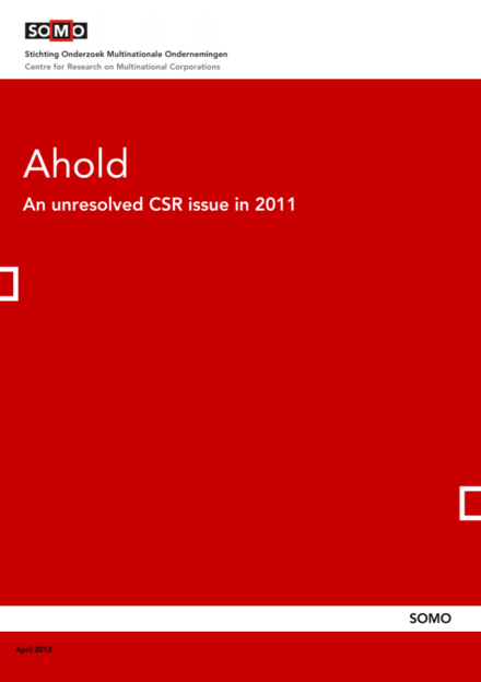 publication cover - Ahold – An unresolved CSR issue in 2011