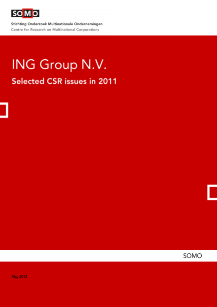 publication cover - ING Group N.V. – Selected CSR issues in 2011
