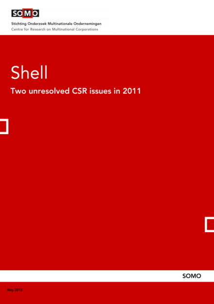 publication cover - Shell – Two unresolved CSR issues in 2011