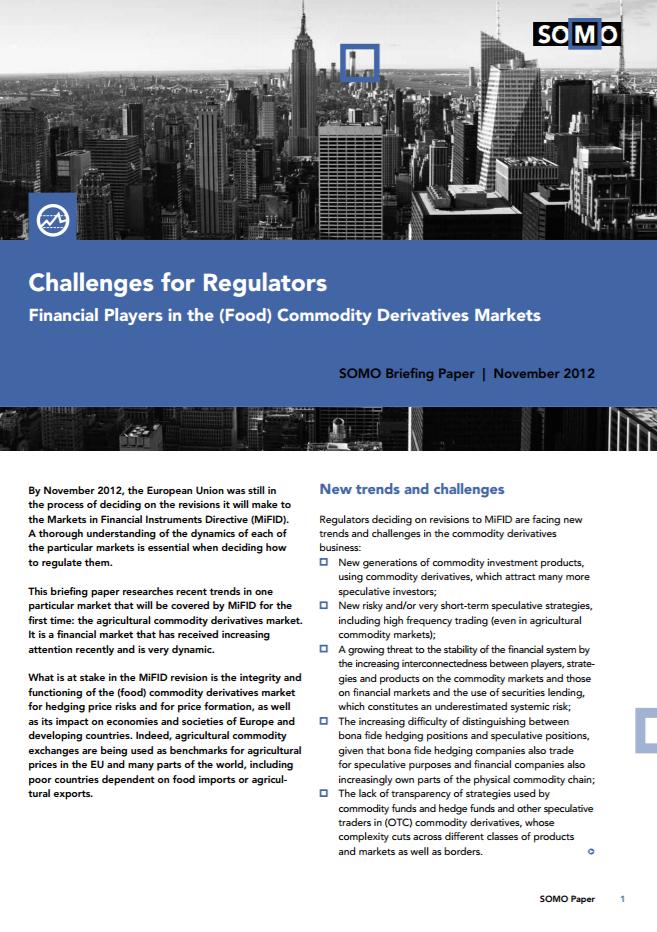 publication cover - Challenges for Regulators