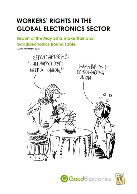 publication cover - Workers' rights in the global electronics sector