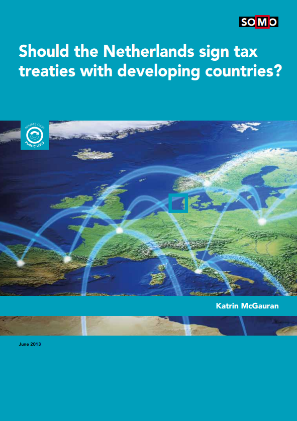 publication cover - Should the Netherlands sign tax treaties with developing countries?
