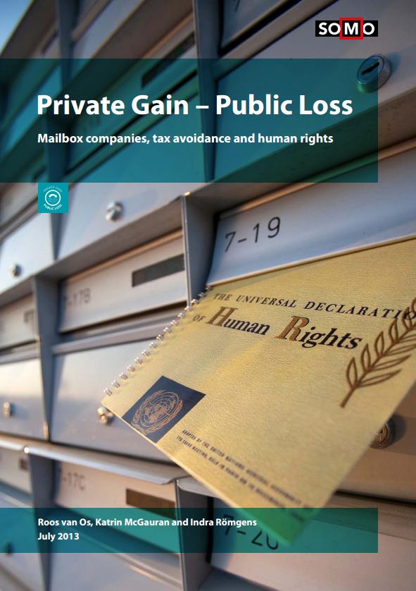 publication cover - Private Gain, Public loss