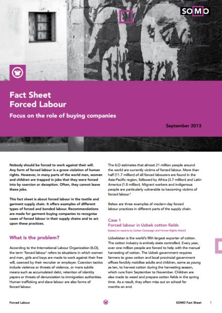 publication cover - Fact Sheet: Forced labour