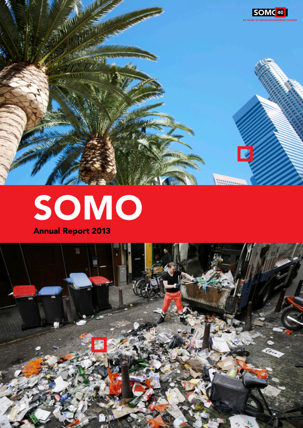 publication cover - SOMO – Annual Report 2013