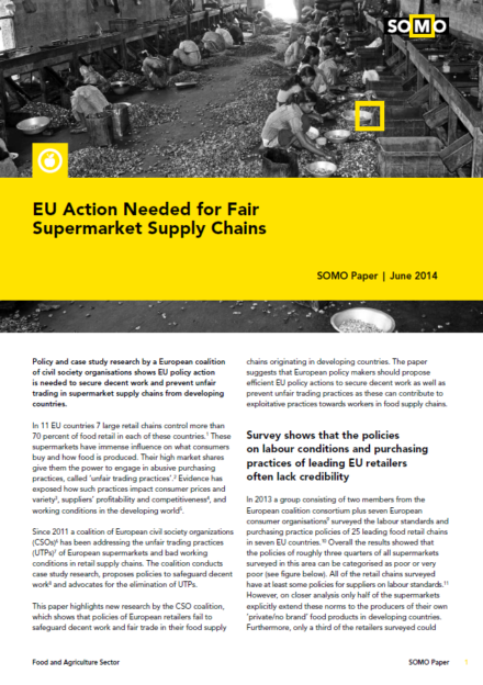 publication cover - EU-maatregelen nodig voor eerlijke toeleveringsketens van supermarkten