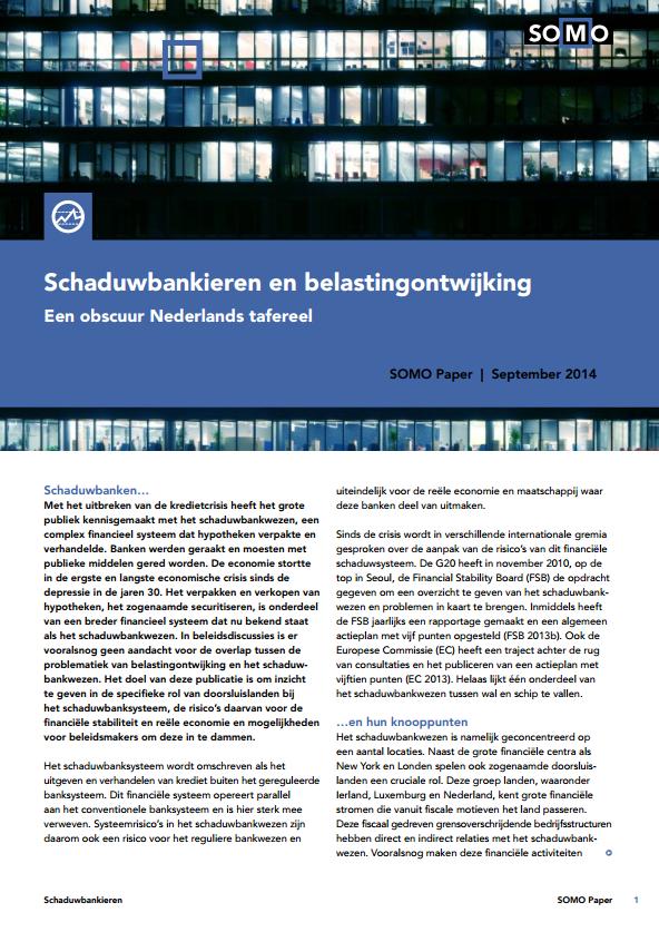 publication cover - Schaduwbankieren en belastingontwijking