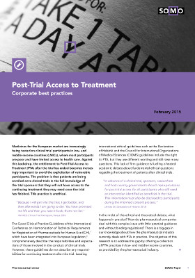 publication cover - Post-trial access to treatment