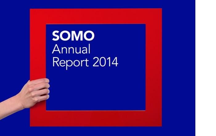 publication cover - SOMO – Annual Report 2014