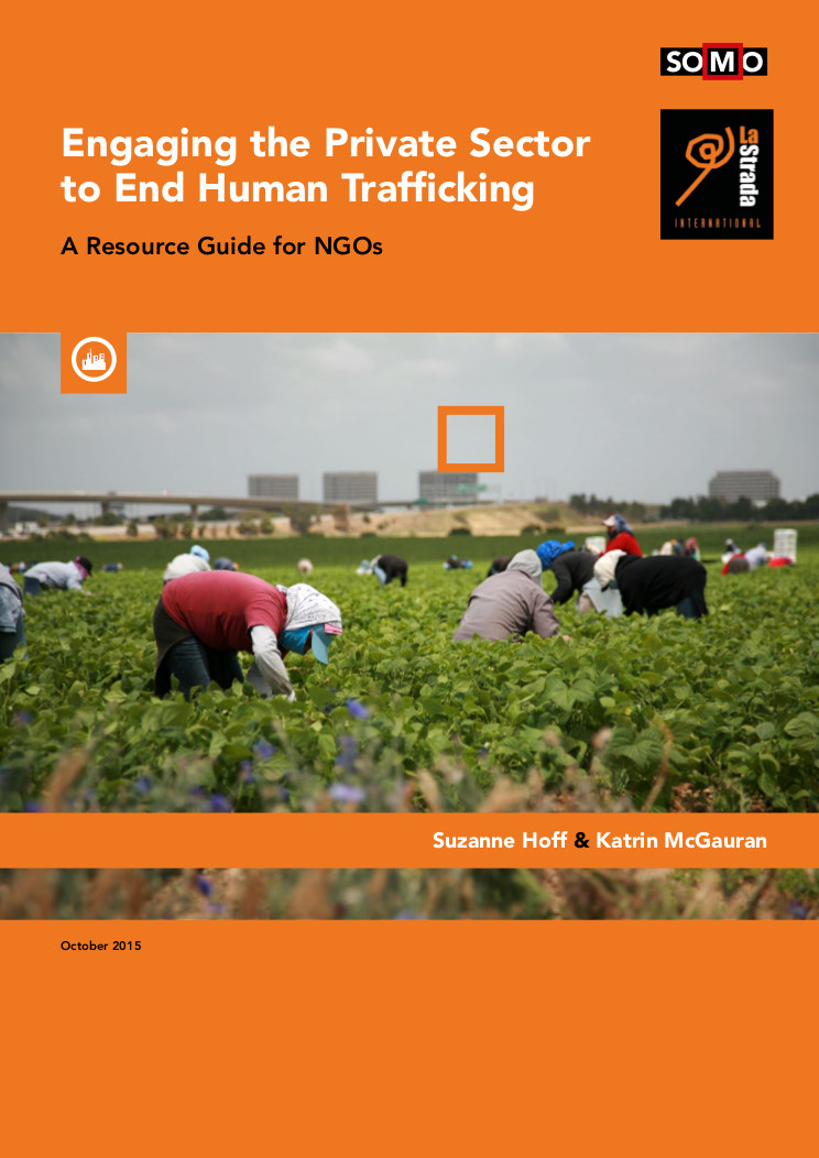 publication cover - Resource Guide 'Engaging the Private Sector to End Human Trafficking'
