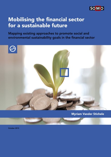publication cover - Mobilising the financial sector for a sustainable future