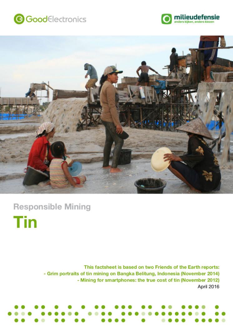 publication cover - Verantwoorde mijnbouw: Tin