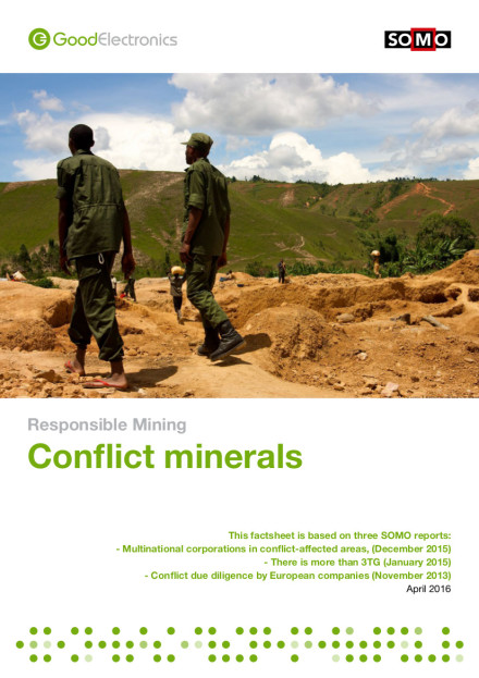publication cover - Verantwoorde mijnbouw: Conflictgrondstoffen