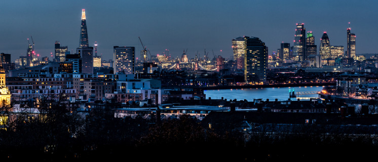The City of London by night