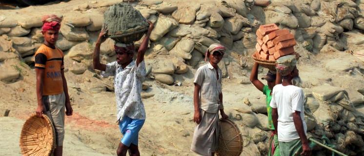 Bouwplaats in Bangladesh
