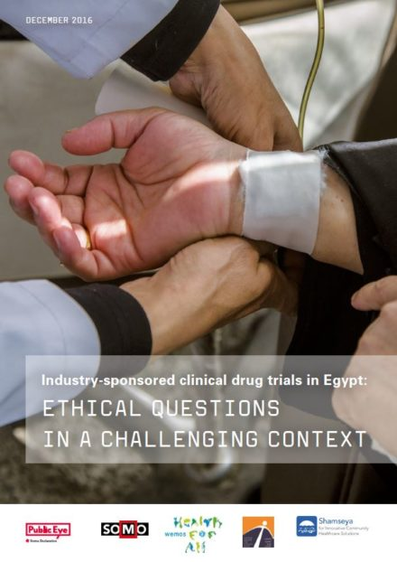 publication cover - Industry-sponsored clinical drug trials in Egypt