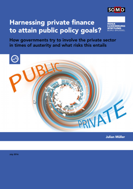 publication cover - Harnessing private finance to attain public policy goals?